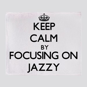 Keep Calm by focusing on Jazzy Throw Blanket