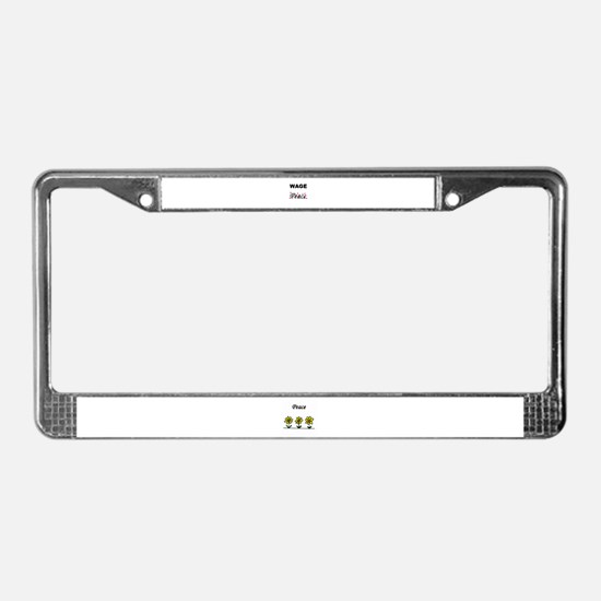 WAGE Peace License Plate Frame