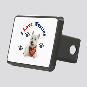 I Love Westies 111 Rectangular Hitch Cover