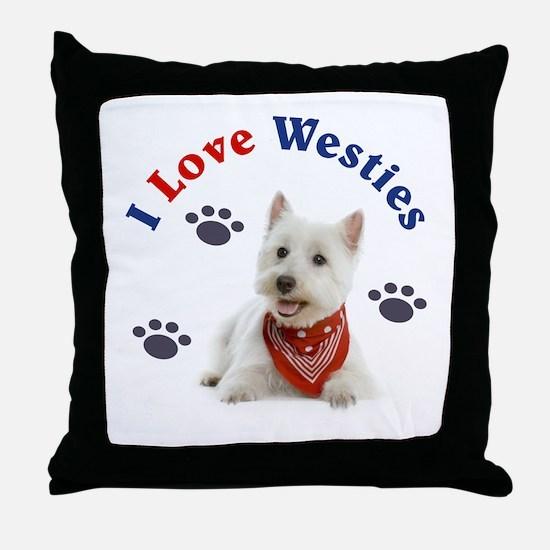 I Love Westies 111 Throw Pillow