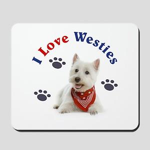 I Love Westies 111 Mousepad