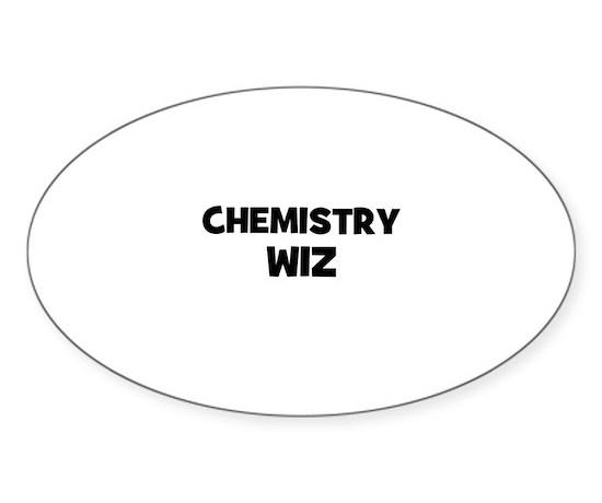 Chemistry wiz oval decal