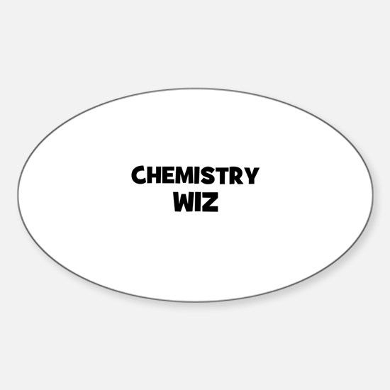 Chemistry wiz oval decal