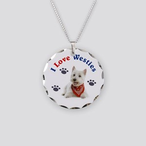 I Love Westies 111 Necklace Circle Charm