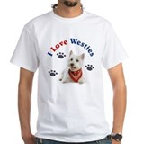 West highland white terrier Mens Classic White T-Shirts
