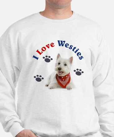 I Love Westies 111 Sweatshirt
