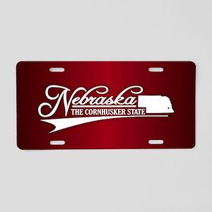 Nebraska State of Mine Aluminum License Plate