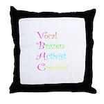 VBAC ABCs Pink Vocal Throw Pillow