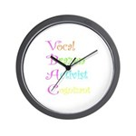 VBAC ABCs Pink Vocal Wall Clock