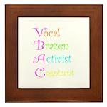 VBAC ABCs Pink Vocal Framed Tile