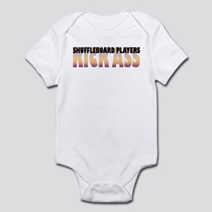 Shuffleboard Players Kick Ass Infant Bodysuit