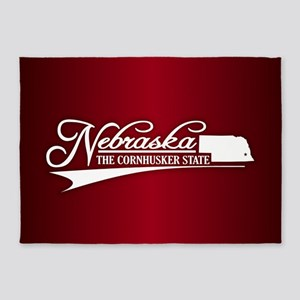 Nebraska State of Mine 5'x7'Area Rug