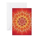 Mars Yantra Mandala Greeting Cards (Pk of 10)
