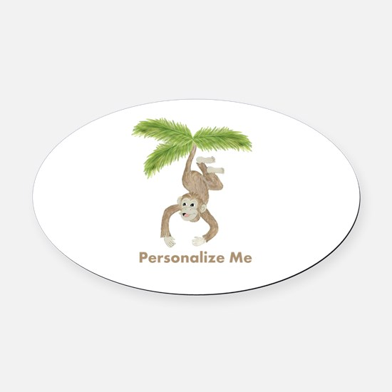 Personalized Monkey Oval Car Magnet