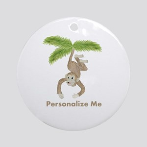 Personalized Monkey Ornament (Round)