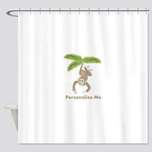 Personalized Monkey Shower Curtain