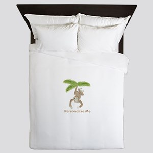 Personalized Monkey Queen Duvet