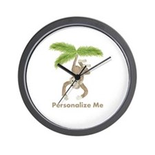 Personalized Monkey Wall Clock