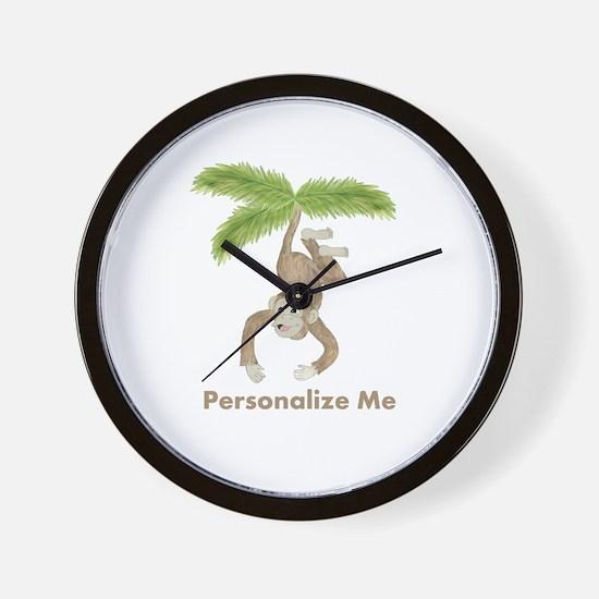Personalized Monkey Wall Clock