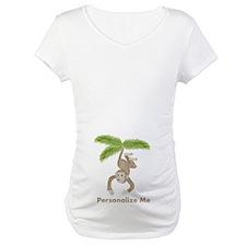 Personalized Monkey Maternity T-Shirt