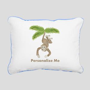 Personalized Monkey Rectangular Canvas Pillow