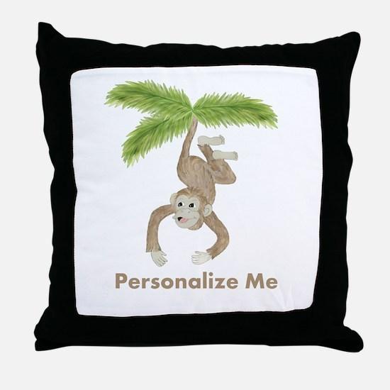 Personalized Monkey Throw Pillow
