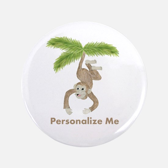 "Personalized Monkey 3.5"" Button (100 pack)"