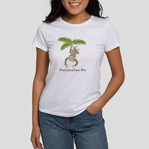 Personalized Monkey Women's T-Shirt