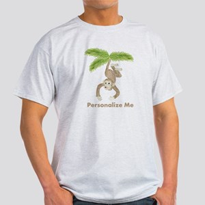 Personalized Monkey Light T-Shirt