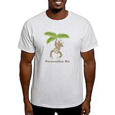 Personalized Monkey Light T-Shirt