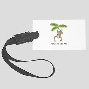 Personalized Monkey Large Luggage Tag
