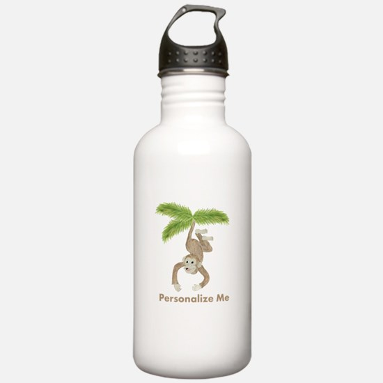 Personalized Monkey Water Bottle