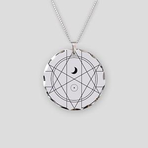 Unicursal hexagram necklaces cafepress unicursal hexagram luna sol necklace circle charm mozeypictures Images