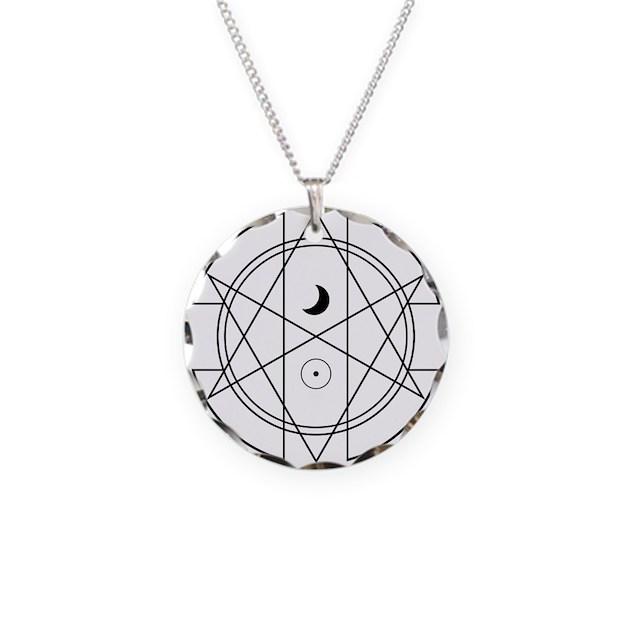 Unicursal hexagram luna sol necklace circle charm by admincp111564742 mozeypictures Images