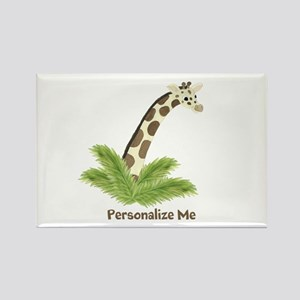 Personalized Giraffe Rectangle Magnet