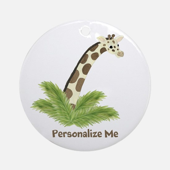 Personalized Giraffe Ornament (Round)