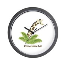 Personalized Giraffe Wall Clock