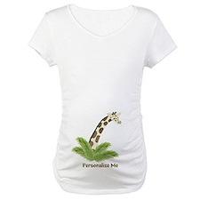 Personalized Giraffe Maternity T-Shirt