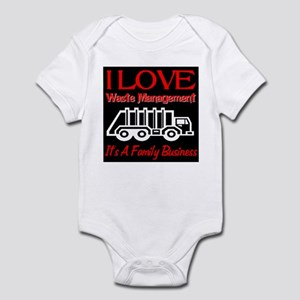 I Love Waste Management Infant Bodysuit