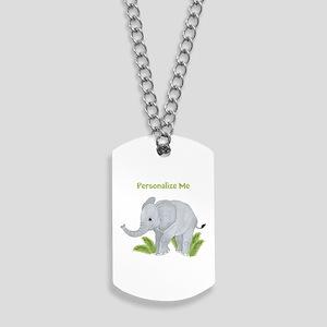 Personalized Elephant Dog Tags