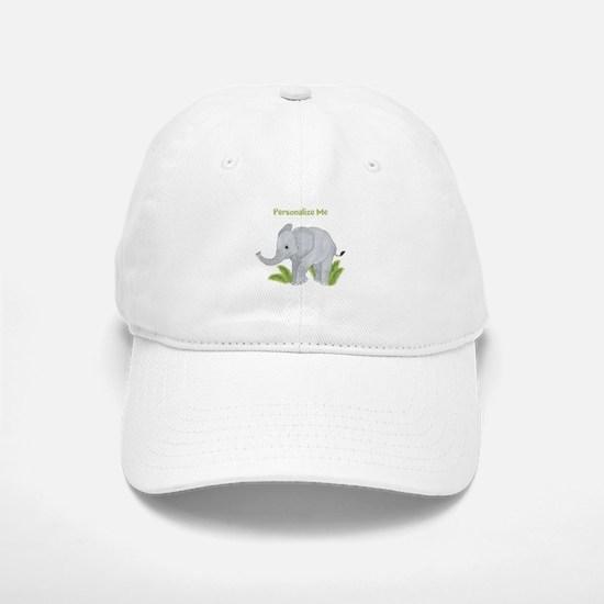 Personalized Elephant Baseball Baseball Cap