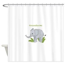Personalized Elephant Shower Curtain