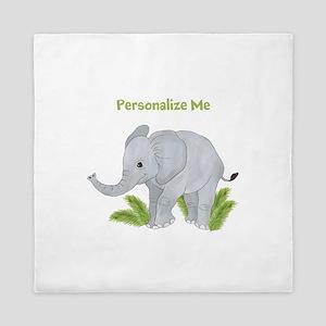 Personalized Elephant Queen Duvet