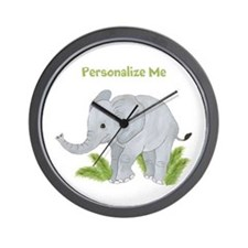Personalized Elephant Wall Clock