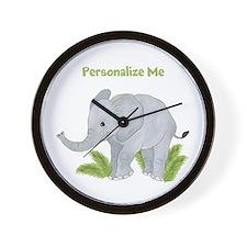 Personalized Elephant Wall Clock