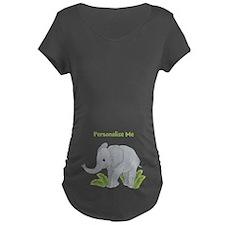 Personalized Elephant Maternity Dark T-Shirt