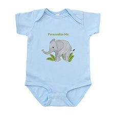 Personalized Elephant Infant Bodysuit