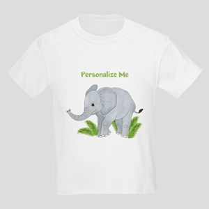 Personalized Elephant Kids Light T-Shirt