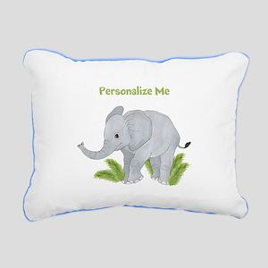Personalized Elephant Rectangular Canvas Pillow