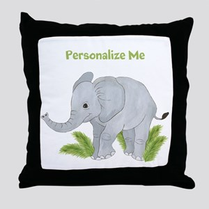 Personalized Elephant Throw Pillow
